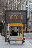 Detour traffic — Stock Photo