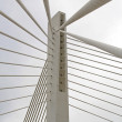 Suspended bridge pillar — Stock Photo
