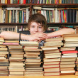 Stock Photo: Boy and books