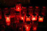 Candles of death — Stock Photo