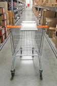 Shopping cart warehouse — Stock Photo