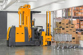 Stacker forklift — Stock Photo