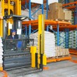 Forklift in warehouse — Stock Photo #18812911