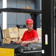 Stock Photo: Forklift driver