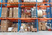 Warehouse shelf — Stock Photo