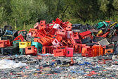 Landfill plastic — Stock Photo
