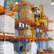 Stacker in warehouse — Stock Photo #22224499