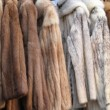 Fur coats — Stock Photo