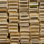 Wooden crates — Stock Photo