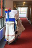 Janitor cart — Stock Photo