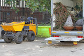 Skip Loading Dumper — Stock Photo