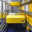 Warehouse shuttle system - Stock Photo