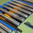 Stock Photo: Conveyor rollers