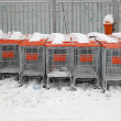 Shopping carts snow — Stock Photo #23699757
