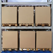 Pallets boxes — Stock Photo