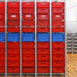 Red crates — Stock Photo