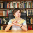 Boring in library — Stock Photo #24398801