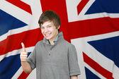 Brittiska tummen upp — Stockfoto