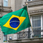 Brasilian flag — Stock Photo