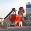Concrete mixing plant — Stock Photo