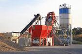 Concrete mixing plant — Stock Photo