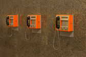 Public telephones — Stock Photo