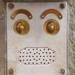 Doorbell face — Stock Photo