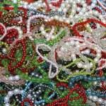 Necklaces and bracelets — Stock Photo