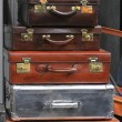 Vintage sutcases - Stock Photo