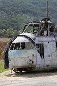Havaroval vrtulník — Stock fotografie