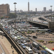 Traffic jam Cairo — Stock Photo