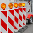 Road works barrier — Stock Photo #25652075