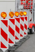 Road works barrier — Stock Photo