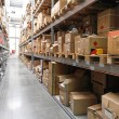 Warehouse shelving — Stockfoto