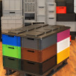 Stock Photo: Plastic crates