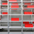 Red crates storage — Stock Photo