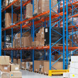 Warehouse shelving — Stock Photo