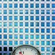 Clock and facade — Stock Photo