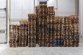 Cargo pallets — Stock Photo
