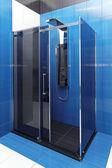 Blue shower — Stock Photo