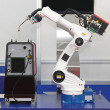 Robotic arm welder — Stock fotografie