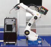 Robotic arm welder — Stock Photo