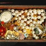 Jewellery in chest — Stock Photo