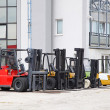 Forklifts cargo — Stock Photo