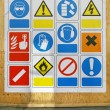 Safety signs — Stock Photo