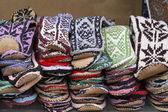 Lã meias chinelos — Foto Stock