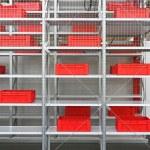 Plastic crates storage — Stock Photo #32921367