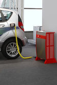 Electric car charging — Stock Photo