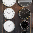 World time clocks — 图库照片