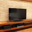 Floating TV stand — Stock Photo
